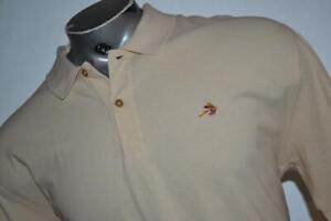 26855-a Mens Orvis Golf Polo Shirt Size Large Light Tan Cotton