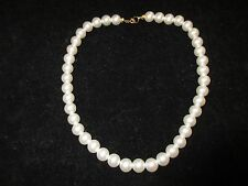 Statement Necklace Imitation Pearls White Thick Elegant Costume Wedding Party