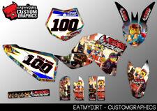 Para KTM 50 2009 - 2015 Custom Graphics SX MX Motocross Calcomanías Pegatinas