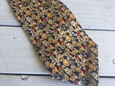 Teddy Bear Silk Necktie Museum Artifacts 100 Year Anniversary Handmade Tan Gold