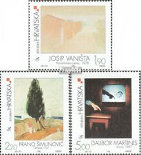 Croatia 493-495 mint never hinged mnh 1998 Contemporary Art