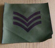 British Army Sergeant Flash Woven Olive Green WW2 Ulster Northern Ireland