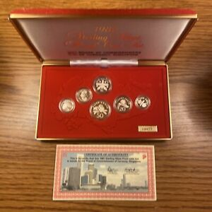 1987 Singapore Silver (6) Coin Proof Set - Box & COA - 15K Mintage