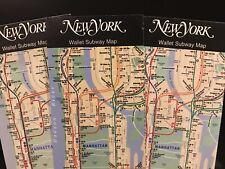 New York City Wallet Size Subway 3 Maps MTA Manhattan