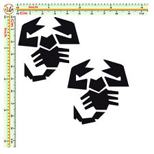 Adesivi abarth sticker scorpions moto casco auto pvc nero prespaziato 2 pz.