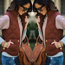 Women Sleeveless Winter Jacke Thick Warm Waistcoat Vest Coat Jacket Size S-3XL