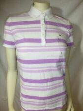 T-shirt, maglie e camicie da donna viola a fantasia righe in cotone
