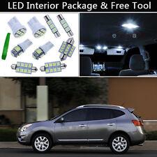 6PCS Xenon White LED Interior Car Lights Package kit Fit 08-2013 Nissan Rogue J1
