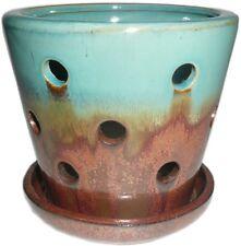 Garden Treasures 4.72-in x 5.28-in Copper green Ceramic Planter
