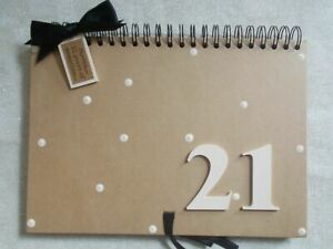 Personalised Handcrafted A4 21st Birthday Guest Book Scrapbook Photo Album Gift