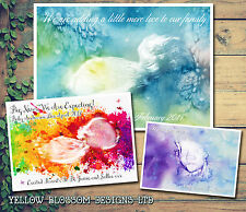 10 Watercolour Scan Boy Girl New Baby Ultrasound Announcement Cards Personalised