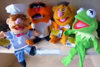 The Muppet Show Kermit the Frog Fozzie Bear drummer Swedish plush puppet 4PCS