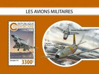 Central Africa - 2018 Military Planes - Souvenir Sheet - CA18810b
