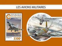Central Africa - 2018 Military Planes - Souvenir Sheet - CA18810b