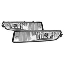 Acura 02-03 TL Clear Bumper Fog Lights Set w/ Bulbs+Harness Adaptor Base Type-S