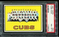 1967 Topps Baseball #354 CHICAGO CUBS TEAM CARD PSA 8 NM-MT