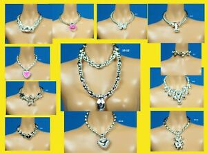Barbie Fashionistas Set 10 Choose Pick 1 Silver Color Necklace for 1/6 Doll
