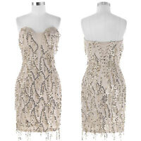 Sequined Short Tassel Ball Cocktail Evening Prom Party Formal Bridesmaids Dress