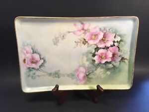 Exclusive Antique French Dresser Tray Signed GDA Haviliand Limoges 1900-1941