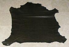 (LFE9382) Black Brown Reptile Print Lambskin Leather Hide Skin