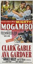 MOGAMBO LOCANDINA CLARK GABLE AVA GARDNER GRACE KELLY JOHN FORD