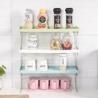 Kitchen Storage Standing Rack Double Layer Countertop Storage Organizer Shelf