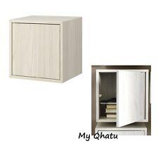 IKEA VALJE Wall Cabinet Storage With 1 Door Shelf Larch White 702.795.98 NEW