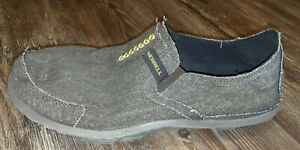 Merrell mens loafer slippers brown canvas size 11