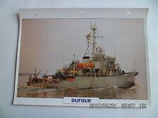 CARTE FICHE NAVIRES DE GUERRE DUFOUR 1954 DRAGUEUR OCEANIQUE