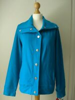 *NEW TAGS* STYLE & CO MACYS USA L 12 14 jacket teal blue jersey casual smart