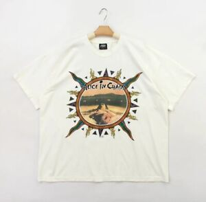 VINTAGE ALICE IN CHAINS DIRT BACKSTAGE PASS BLANK COTTON REPRINT TEE LARGE