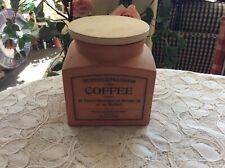 The Revised Suffolk Canister Coffee by Henry Watson Pottery Terra-cotta Wood Lid