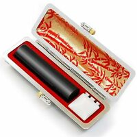 Japanese KANJI HANKO Stamp 60.0 x 15.0mm for Your Name with a case New Japan