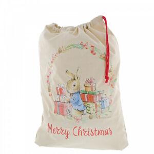 Beatrix Potter Peter Rabbit Merry Christmas Santa Toy Sack Bag