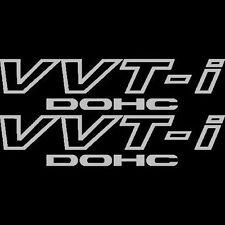 [#125] 2x Silver Toyota VVT-I DOHC Stickers Vinyl  VVTI Supra JDM Celica TRD