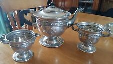 Irish Celtic design Solid Silver Tea Set, Dublin Hallmarks