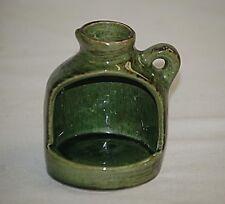 Brandon Canada Green Art Pottery Candle Lantern Moonshine Jug Souvenir Shelf Dcr