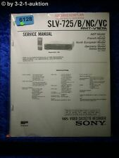 Sony Service Manual SLV 725 /B /NC /VC Video Recorder (#6128)