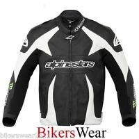 Alpinestars Scream Monster Energy Leather Black / White Jacket Size EUR 52 ONLY