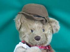 BIG TEXAS COWBOY JOINTED TEDDY BEAR SUEDE VEST ROPE HAT BANDANNA PLUSH STUFFED