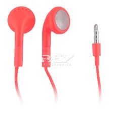 AURICULARES CASCOS CON MICROFONO color ROJO  p/ iPhone iPad iPod MP3 MP4  i176
