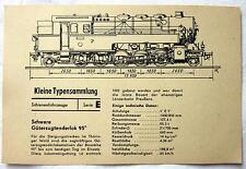 DDR Kleine Typensammlung Schienefahrzeuge - Schwere Güterzugtenderlok 95