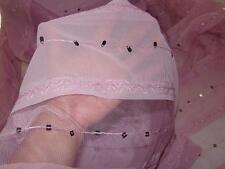 By The Yard Mauve Chiffon/Mesh Fabric Design w/Embroidered Tears Sequined Design