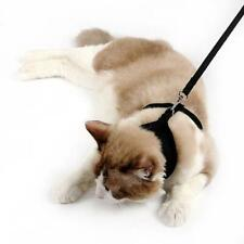 Adjustable Cat Escape Proof Step-in Air Vest Harness with Leash All Weather Soft