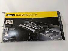Fellowes Keyboard Mouse Tray Drawer Underdesk Under Desk Sliding Mount Add On