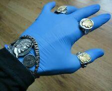 Ancient Roman Military Senatorial Heavy Silver Bracelet Emperor Nero Circa 68 AD