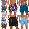 Mens Swim Trunks Swimwear Quick Dry Mesh Lining Board Shorts Pockets Floral Cool