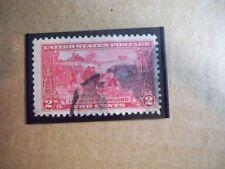 USA Used, 1925 Issue, 2 Cent Lexington Concord Issue, Scott #618, Carmine Rose