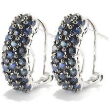 Sterling Silver 2.04ctw Blue Sapphire Drop & Dangle Earring 0.6'L