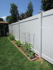 104 FT PVC Vinyl Privacy Fence White 6' x 8' Posts & Caps - Whi